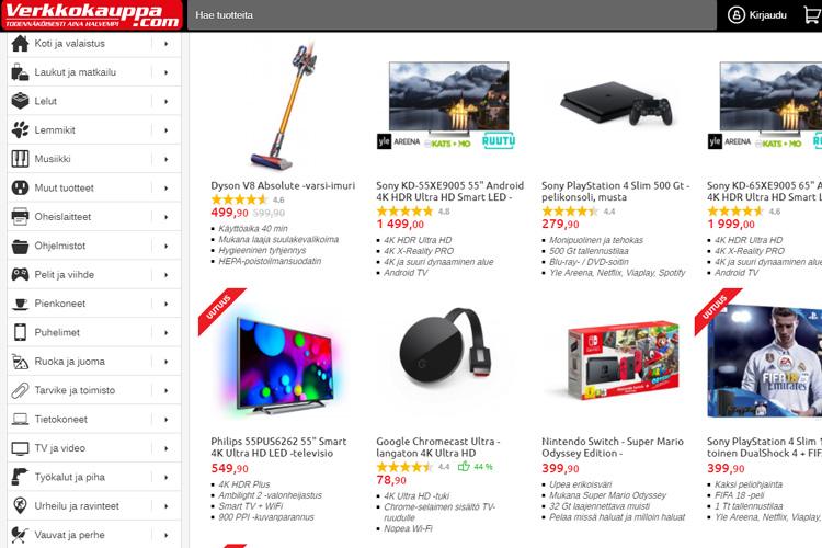 b4f28ba83c82 Интернет-магазины электроники в Финляндии – заказываем онлайн
