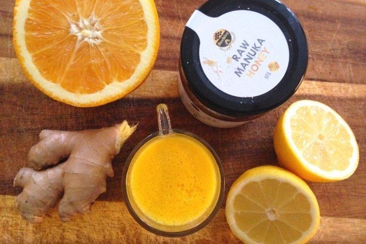 Весьма популярны имбирь, чеснок и мёд, которые часто объединяют в одном напитке